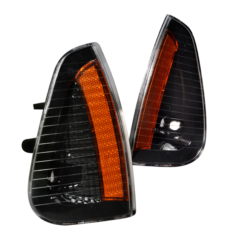 Spec-D Tuning 2006-2010 Dodge Charger Signal Corner Lights Black 06 07 08 09 10 (Left + Right)