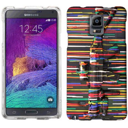 Mundaze Paint Gun Phone Case Cover for Samsung Galaxy Note 4 ()