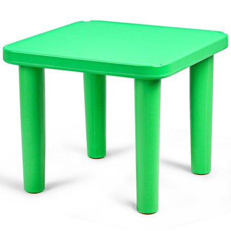"""Kids Portable Plastic 24"""" Square Table Play&Learn Activity School Home Green New - image 10 de 10"""