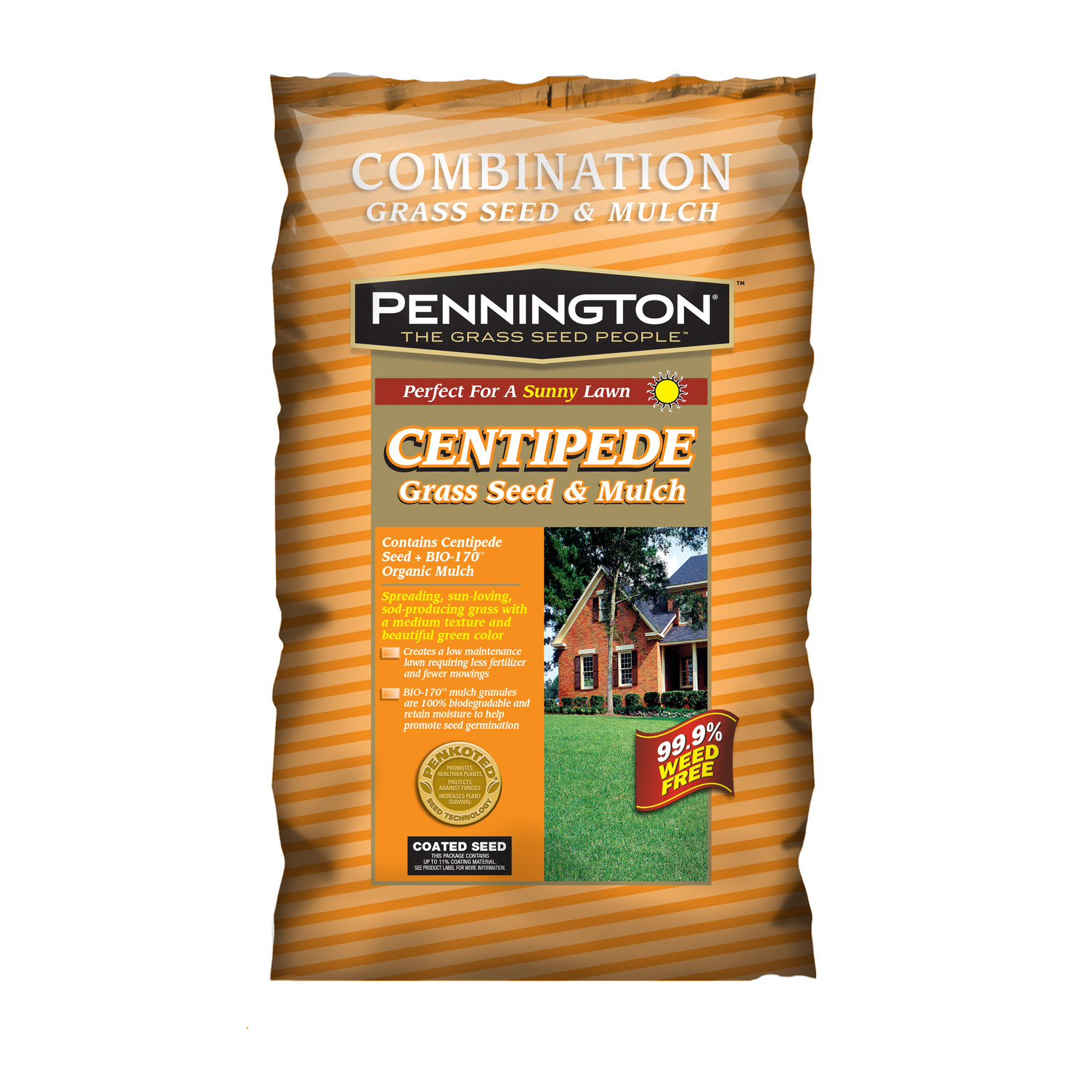 Pennington Centipede With Mulch Grass Seed, 5 lbs