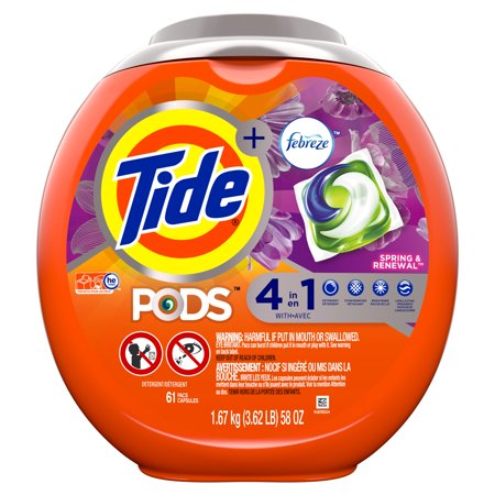 Tide PODS with Febreze Spring & Renewal Laundry Detergent Pacs - 61ct
