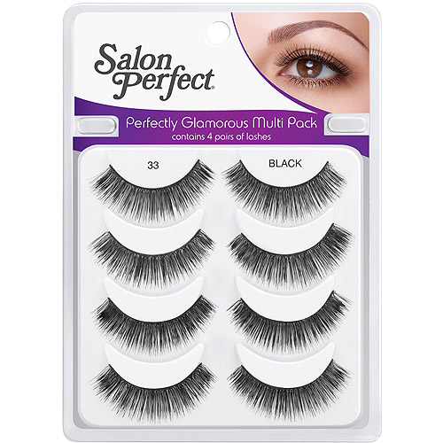 Salon Perfect Perfectly Glamorous Multi Pack Eyelashes, 33 Black, 4 pr