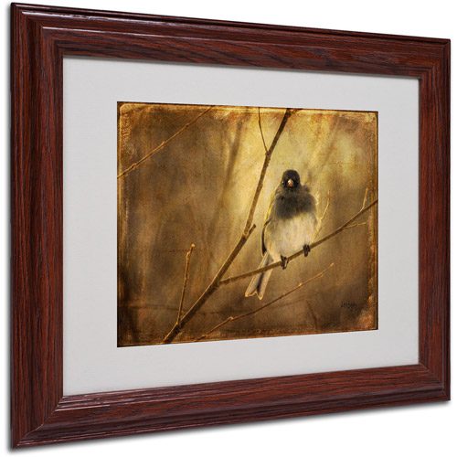 Trademark Fine Art 'Backlit Birdie Being Buffeted' Matted Framed Art by Lois Bryan