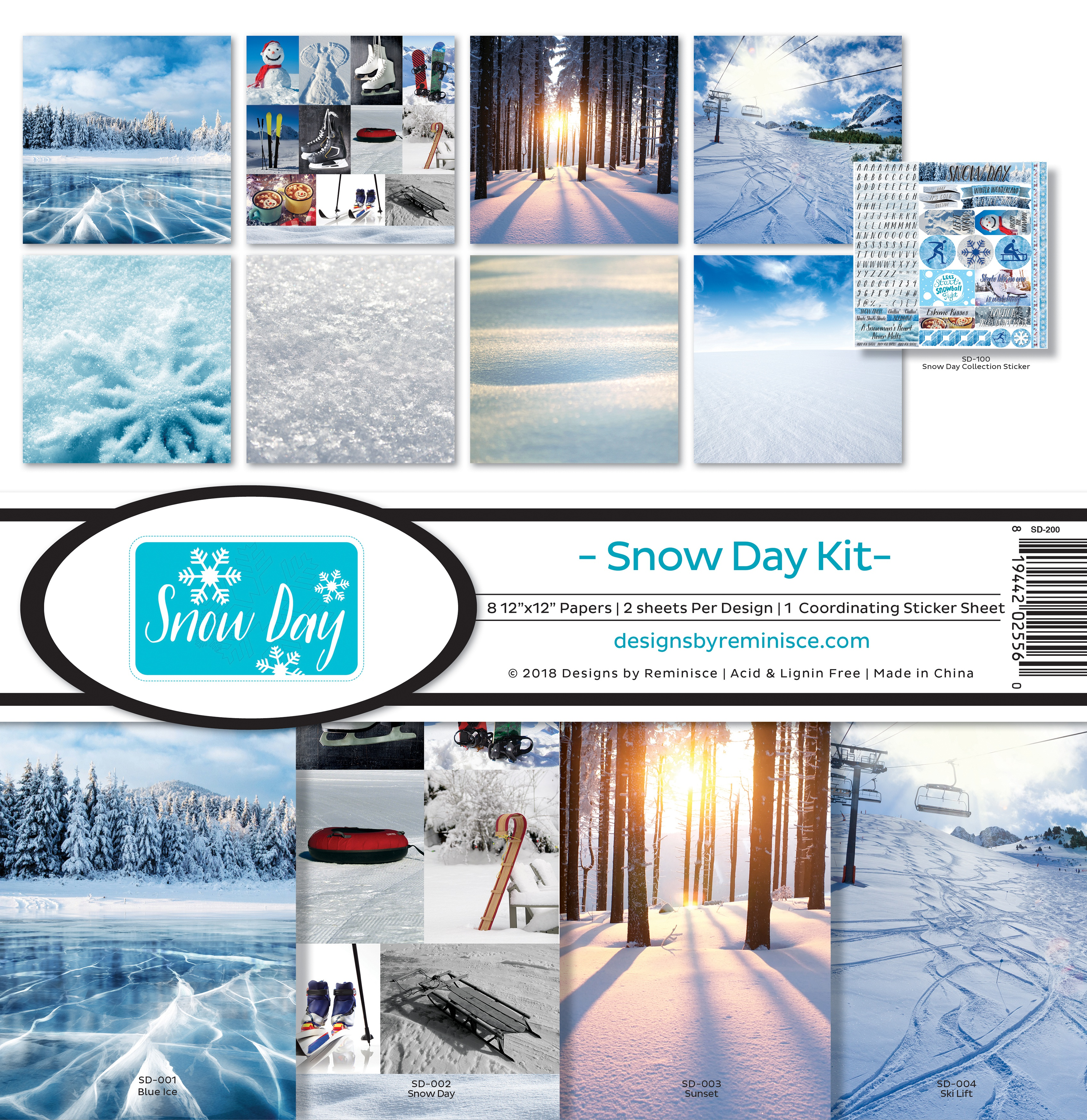 "Reminisce Collection Kit 12""X12""-Snow Day"