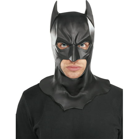Batman The Dark Knight Rises Full Batman Mask, Black, One Size (The Dark Knight Rises Bane Halloween Mask)
