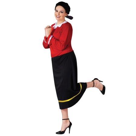 Plus Size Olive Oyl Costume - Plus Size Popeye Costume
