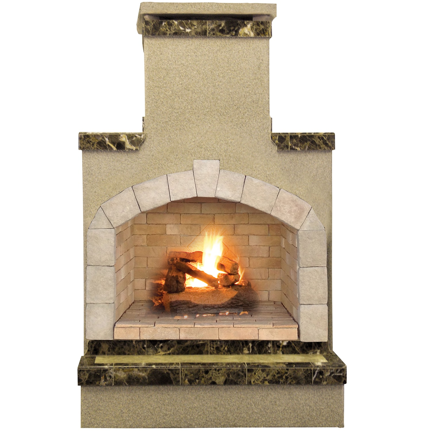 Cal Flame 48-inch Propane Gas Outdoor Fireplace with Brown Porcelain Tile by Overstock