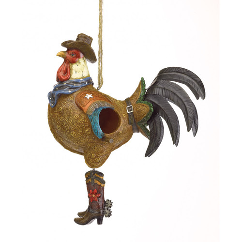 Zingz & Thingz Rooster Sheriff 13 in x 10.5 in x 5 in Birdhouse by Zingz & Thingz