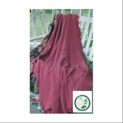 """Rose Eco2Cotton Afghan Throw Blanket 50"""" x 40"""""""
