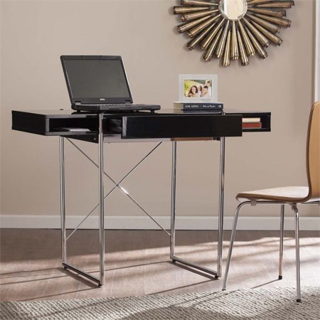 Southern Enterprises Black Desk (Southern Enterprises Brayton Writing Desk in High Glossy Black)