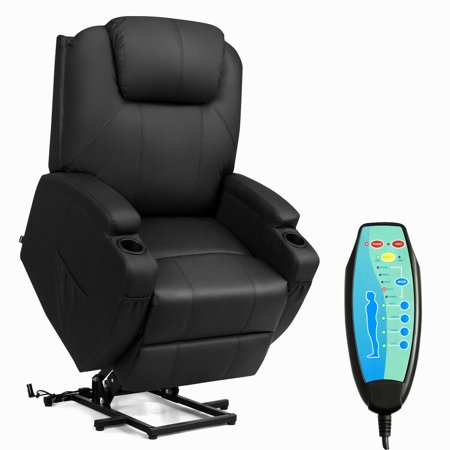 Costway Electric Lift Power Chair Recliner Heated Vibration Massage Sofa with