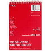 Mead, MEA43082, Stiff-Back Steno Back, 1 Each