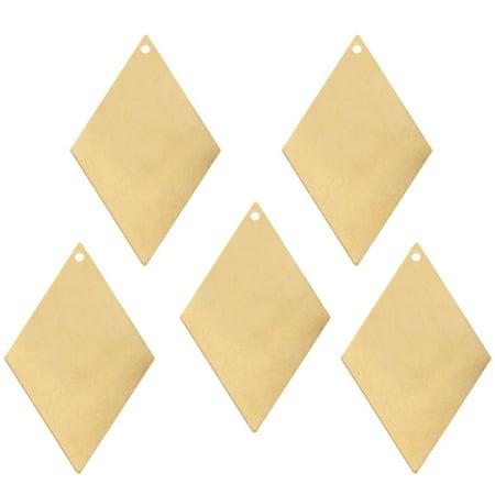 Brass Drop - 15 Brass Plated Alloy Metal Stamping Blanks Diamond Drop 44x29mm