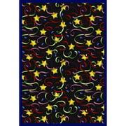 Joy Carpets Streamers and Stars Area Rug