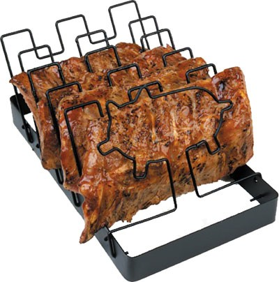 Charcoal Companion SpaceSaver Non-Stick Rib Rack