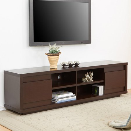 Furniture Of America Kents 70 In  Walnut Entertainment Center