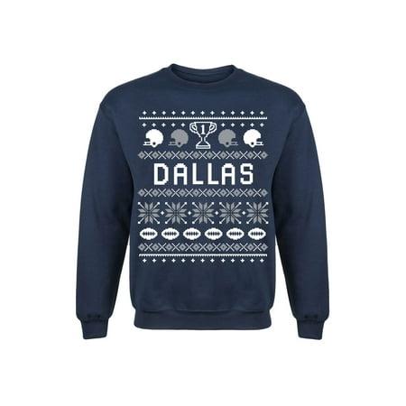 Dallas Ugly Mens Crew Fleece Pullover Sweatshirt Dallas Stars Mens Sweatshirts