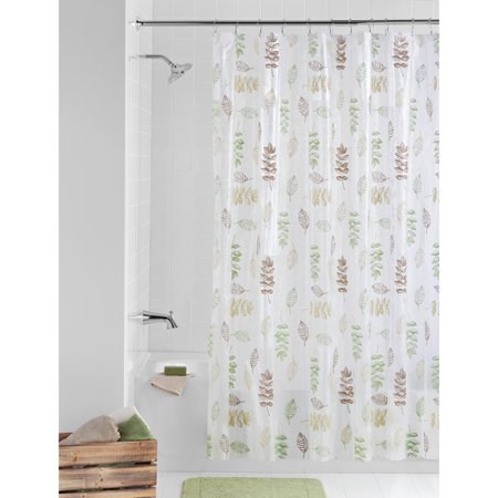 Mainstays PEVA Shower Curtain Bathroom Set, 13 Piece ()