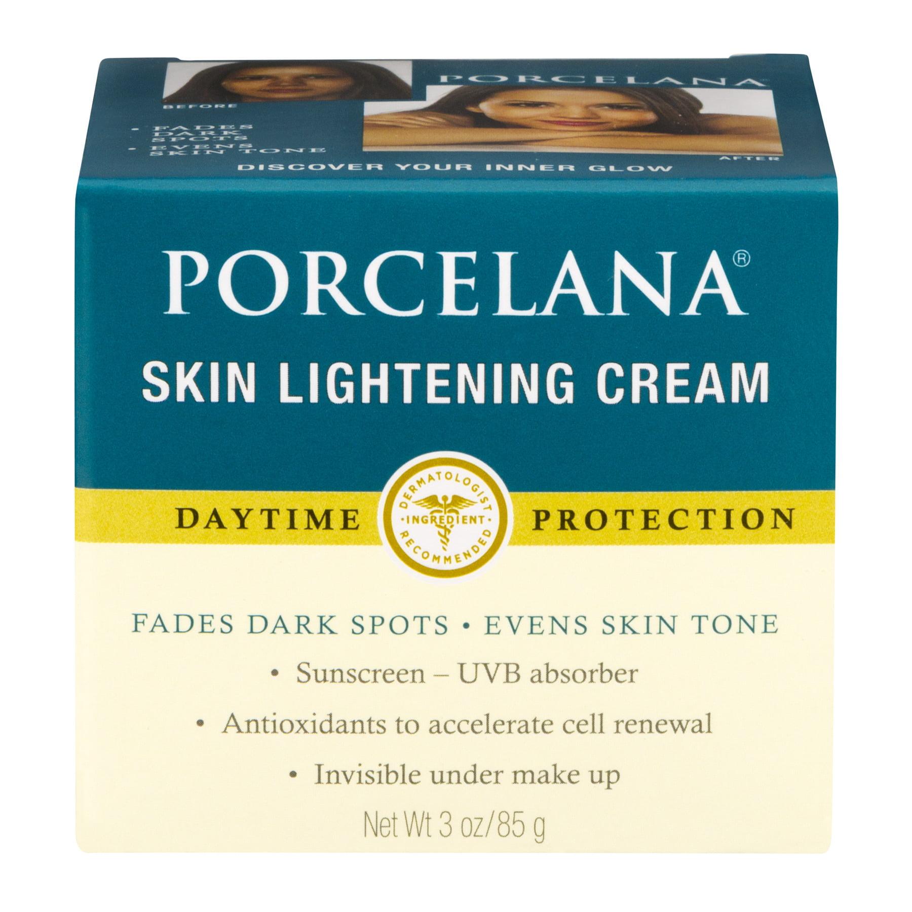 Atrevimiento Contracción Hectáreas  Porcelana Skin Lightening Day Cream and Fade Dark Spots Treatment, 3 oz -  Walmart.com - Walmart.com
