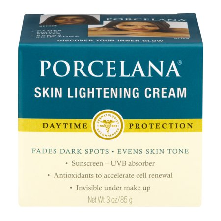 (2 pack) Porcelana Skin Lightening Day Cream and Fade Dark Spots Treatment, 3 (Best Skin Whitening Cream For Black Skin)