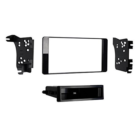 Metra 99-7018CHG Single Din Dash Kit 2014-UP Mitsubishi Outlander - Charcoal Gloss