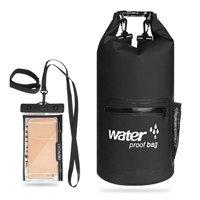 10L / 20L Outdoor Waterproof Dry Bag Roll-top Sack Waterproof Bag with Waterproof Phone Case