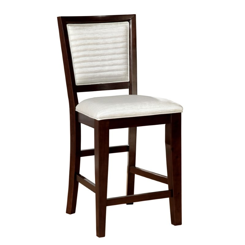 Furniture Of America Steline 26 Counter Stool In Wood Set Of 2