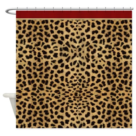 CafePress - Cheetah Animal Print Copy - Unique Cloth Shower Curtain ()
