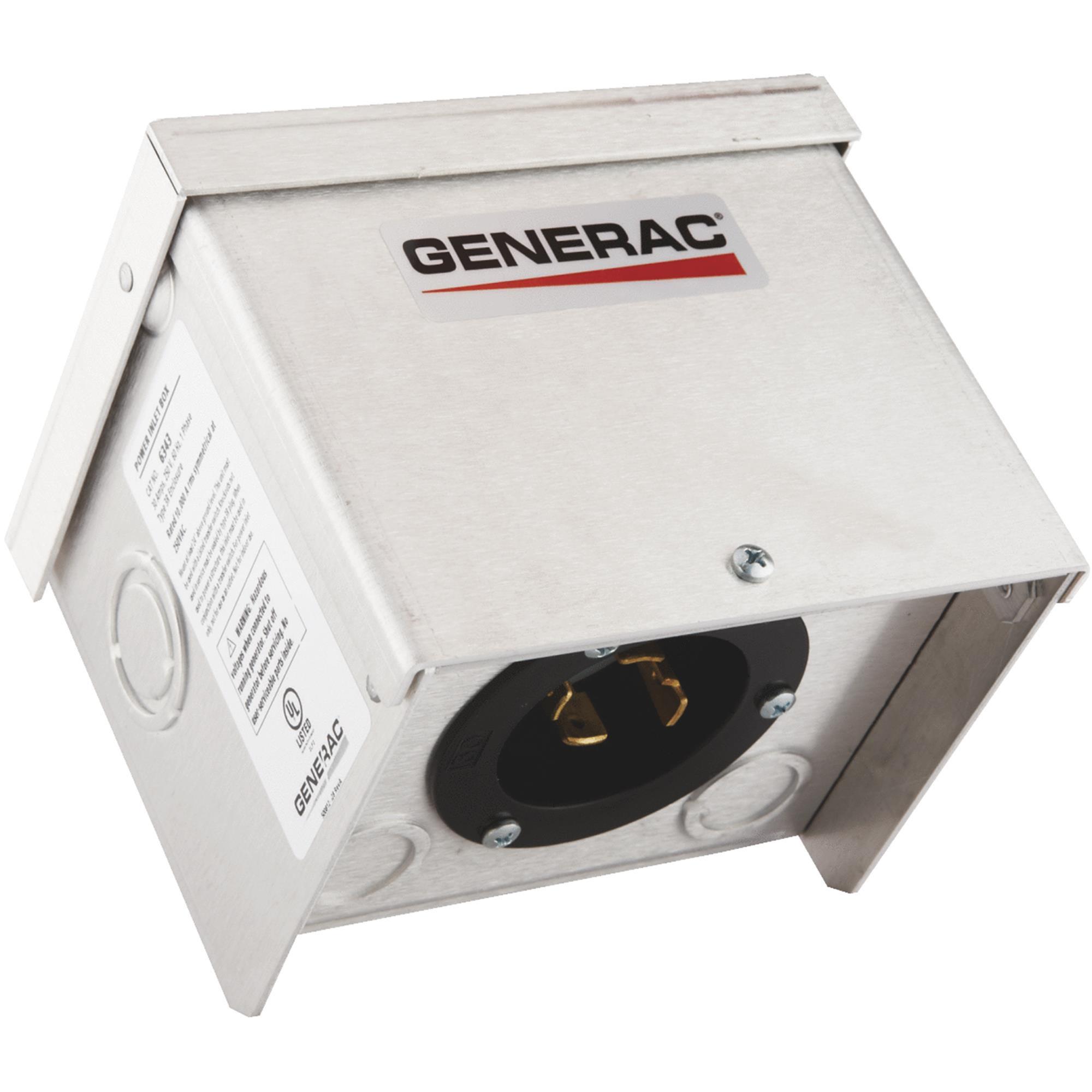 Power Inlet Box,30 Amp AC GENERAC 6343