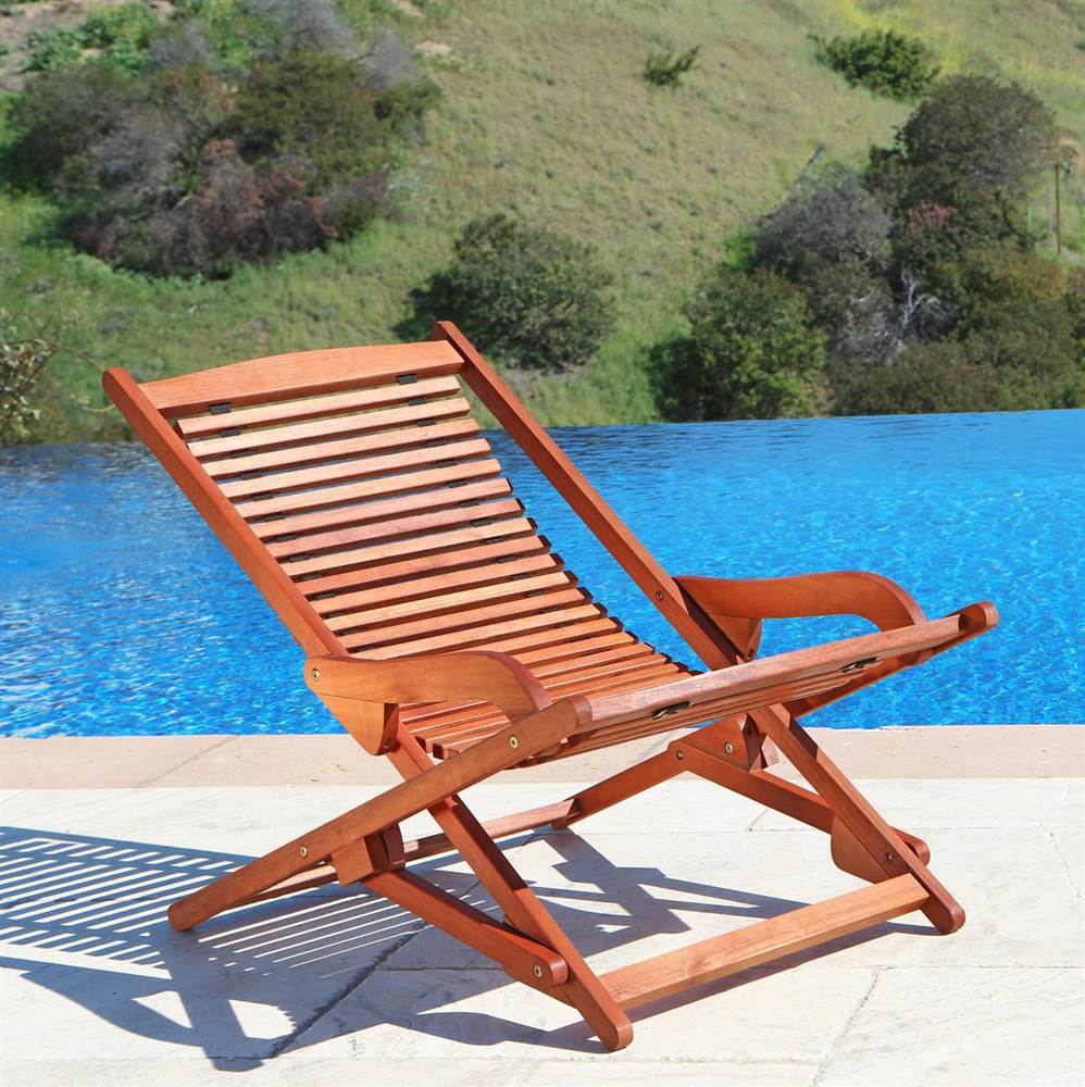 Relaxer Lounge Chair in Plantation Teak