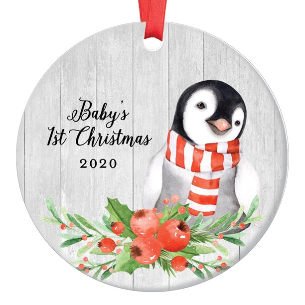 2020 Christmas Ornaments For Son Baby Penguin Baby's First Christmas Ornament 2020, 1st Babies Xmas