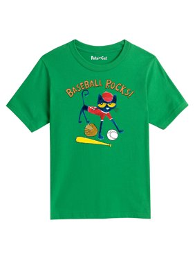 Pete The Cat Baseball Rocks! - Youth Short Sleeve Tee