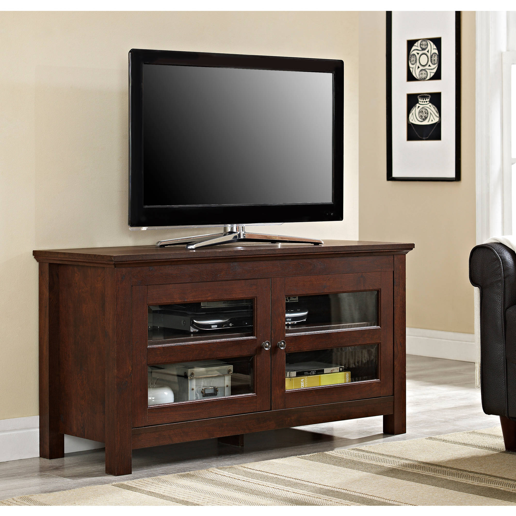 "Walker Edison TV Stand for TVs up to 48"", Multiple Colors"