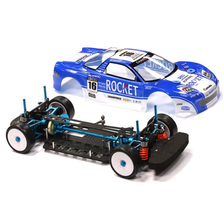 Integy RC Toy Model Hop-ups C23475 V2 Full Hop-Up Modified 1/10 Size 4WD  Shaft Drive Touring Car