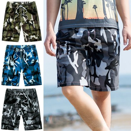 Men´s Camouflage Beach Shorts Casual Loose Board Shorts Swimwear Pants