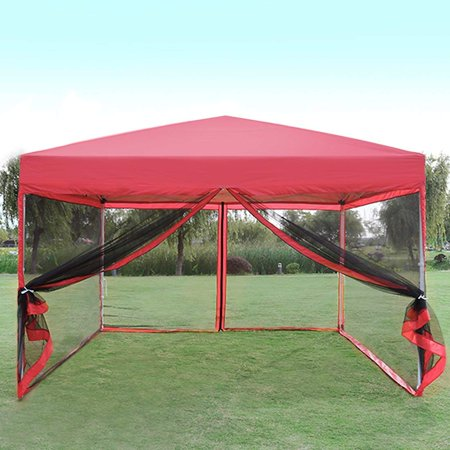 Vivohome Outdoor Ez Pop Up Canopy Screen Party Tent With