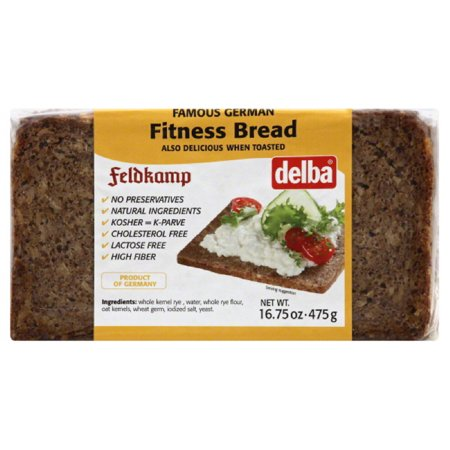 Delba Fitness Bread, 16.75 Oz (Pack of 12) -  Delba Backbetrieb, 0074069900178