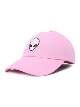 DALIX Alien Head Baseball Cap Mens and Womens Hat in Light Pink