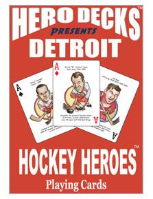 Detroit Hockey Heroes Playing Cards by