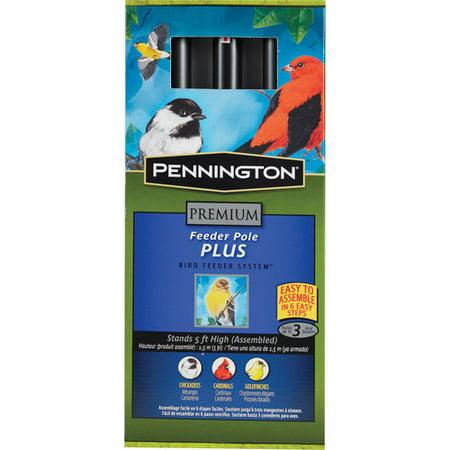 Pennington Premium Wild Bird Feeder Pole Plus, 5 Feet Height ()