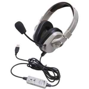 Califone Washable Headphone W/ USB, In-line Volume - Stereo - Wired
