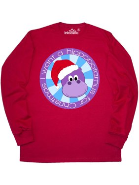 separation shoes 89256 17d39 Product Image I want a hippopotamus for Christmas Long Sleeve T-Shirt