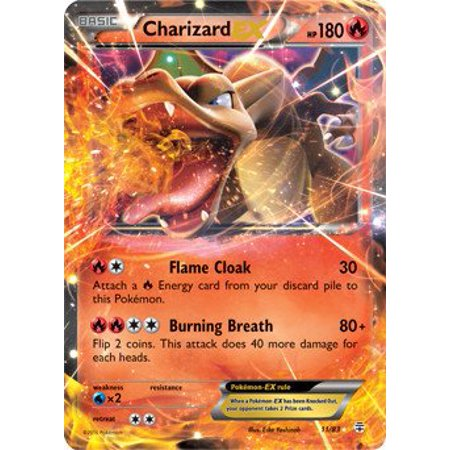 Pokemon - Charizard-EX (11/83) - Generations - Holo, A single individual card from the Pokemon trading and collectible card game (TCG/CCG). By Pokémon ()