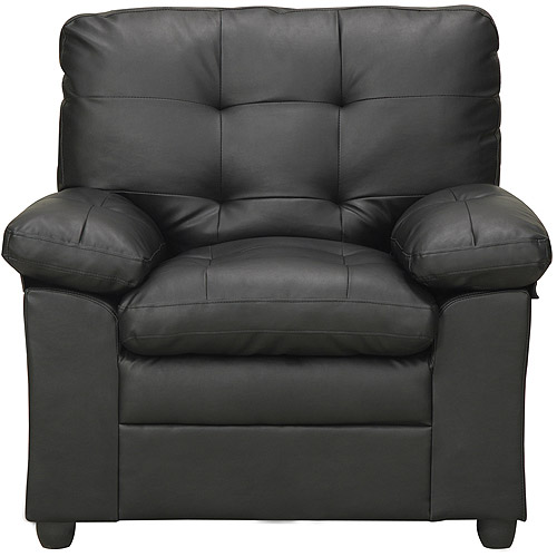 Mainstays Buchannan Faux Leather Chair, Multiple Colors