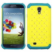 Bling Rhinestone Hard Cover +Impact Silicone Protector Case Samsung Galaxy S 4
