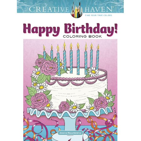 Creative Haven Happy Birthday! Coloring Book