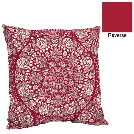 Better homes and gardens lace medallion outdoor deep seat pillow back cushion for Better homes and gardens deep seat cushion