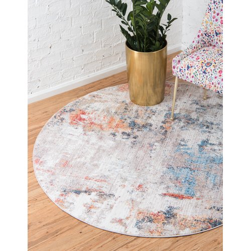 Wrought Studio Beaulieu Prism Gray Blue Area Rug Walmart Com