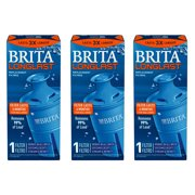 Brita Longlast Replacement Filters, 3Count , Dark Blue