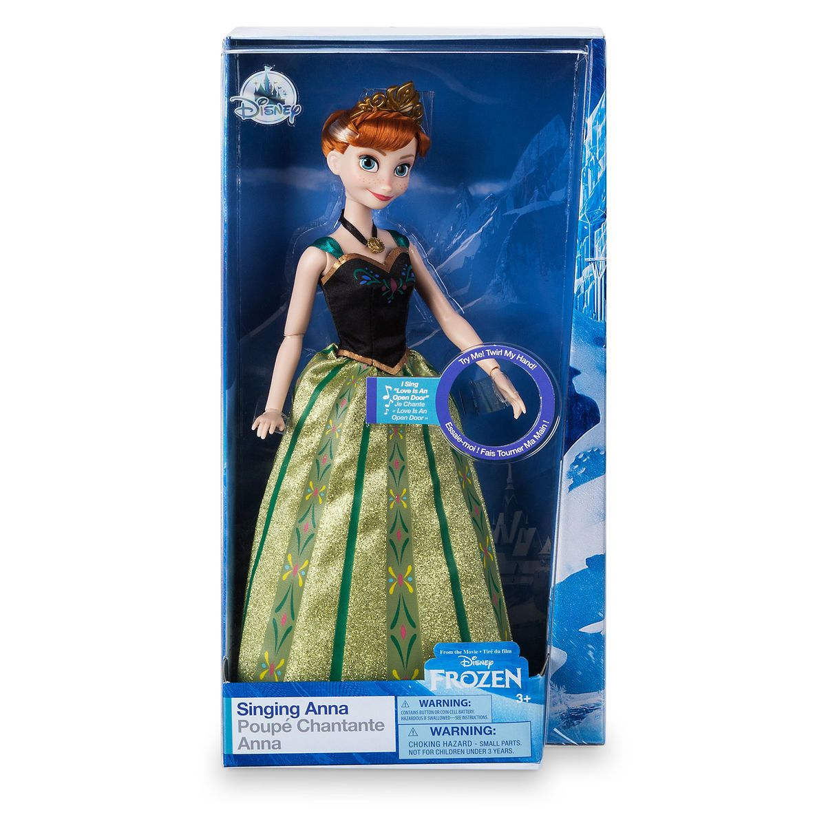 Disney Anna from Frozen Love is an Open Door Singing Doll New with Box